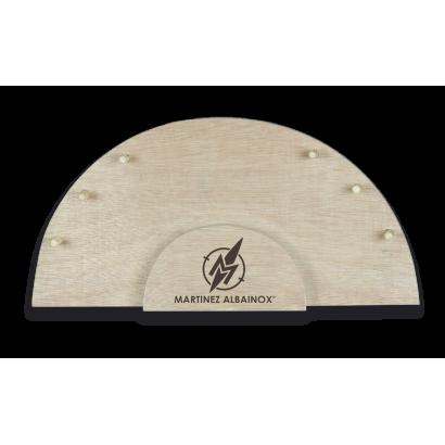 expositor de 6 navajas en madera natural