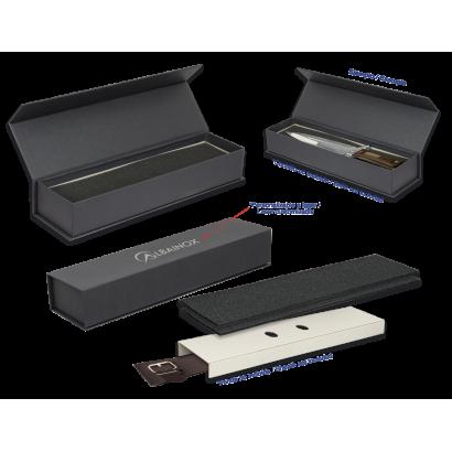 caja negra imantada 39x10x7  cm