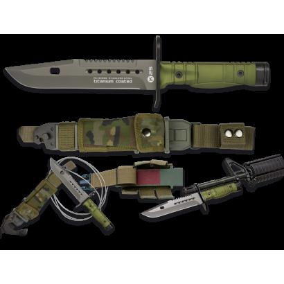 cuchillo K25 VERDE Bayoneta. 17.7