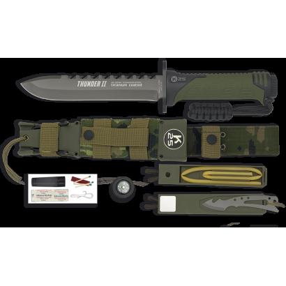 K25.Cuchillo Thunder II. Camo verde. 17.
