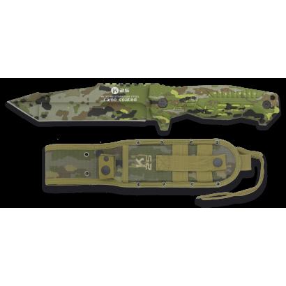 cuchillo K25 SPCB camo titanium c. 14 cm