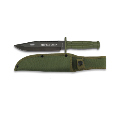 Cuchillo táctico Midway Green. H: 18cm