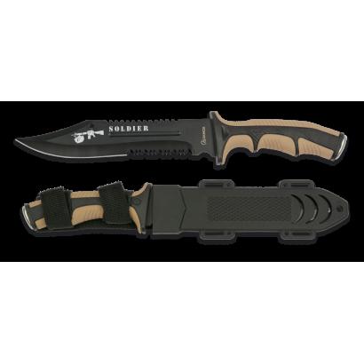 Cuchillo Albainox Soldier coyote. H: 19