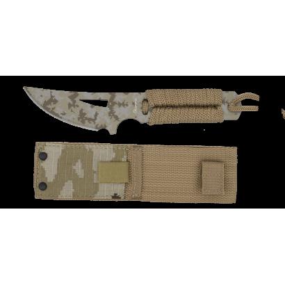 cuchillo albainox Camo coyote  t: 19 cm