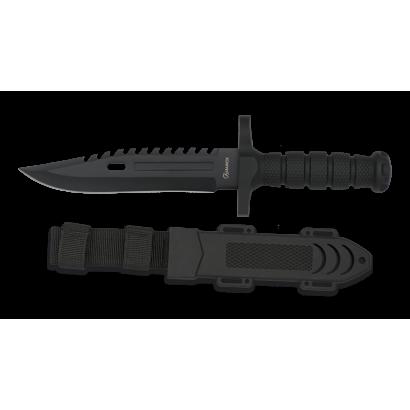 Cuchillo albainox negro engomado. H:19.5