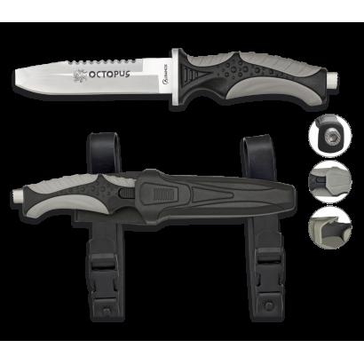 Cuchillo Submarinismo Negro OCTOPUS.