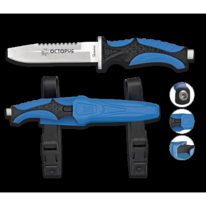 Cuchillo Submarinismo Azul OCTOPUS.