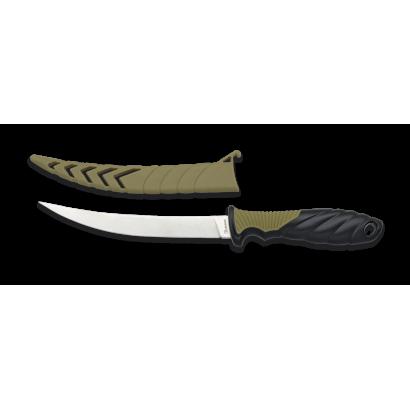 cuchillo pesca con funda ABS. Hoja: 15.8
