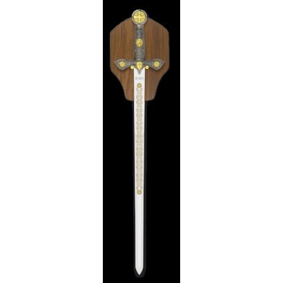 Espada Templaria Tole 10 plata. H:57 cm