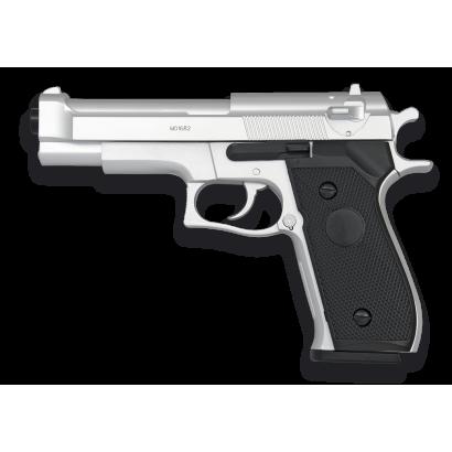 Pistola AIRSOFT. Ligera. Plata. HFC