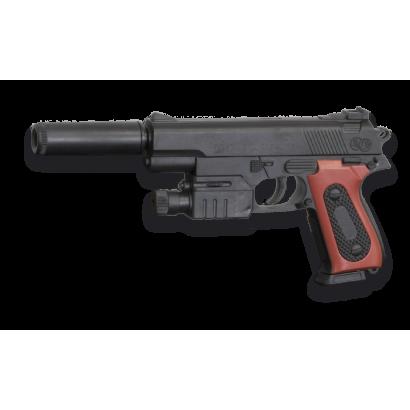 pistola aire suave con silenciador. Cyma