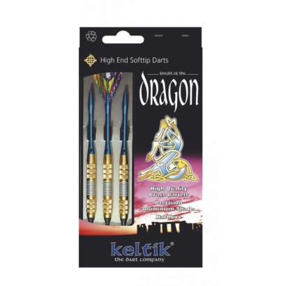 "Dardos  Soft-tip ""DRAGON BLUE""3 pz.18 gr"