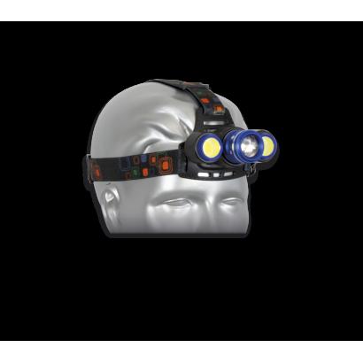 Luz frontal cabeza Azul