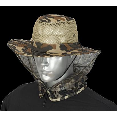 Sombrero con rejilla camo marron BARBARI