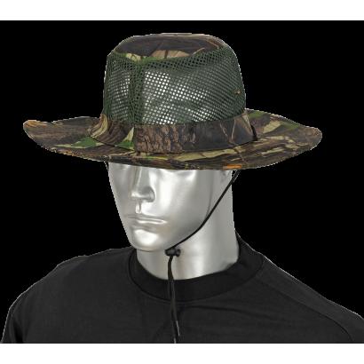 sombrero con rejilla camo arbol verde