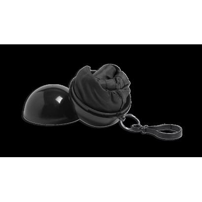 Llavero con gorro impermeable negro