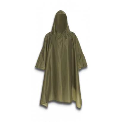 Poncho impermeable Verde.