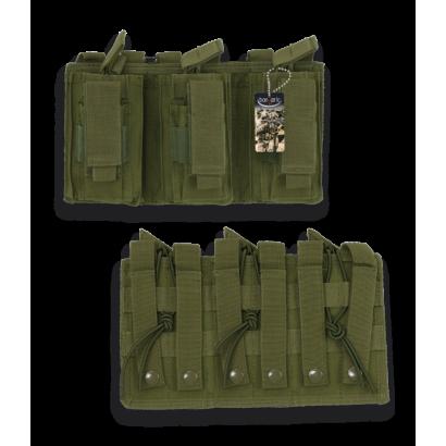 Funda de cargador triple Verde