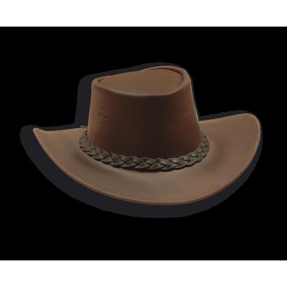 Sombrero de piel.