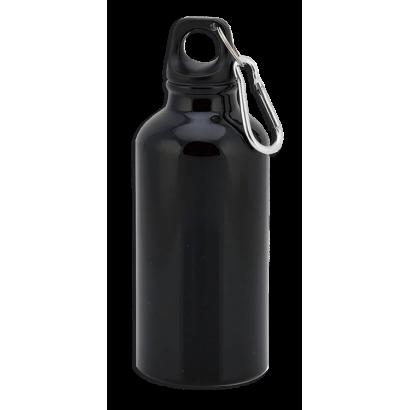 Bidon Negro 400 ml con mosqueton Barbari