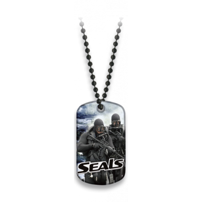 Placa con cadena de bolas SEALS