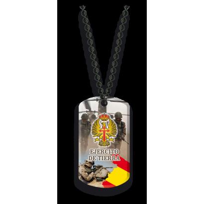 Placa con cadena de bolas Ejército de Ti