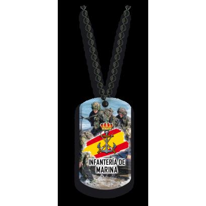 Placa con cadena de bolas Infanteria de