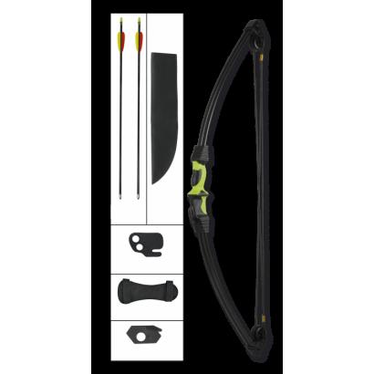 arco poleas negro / verde. 12 LBS