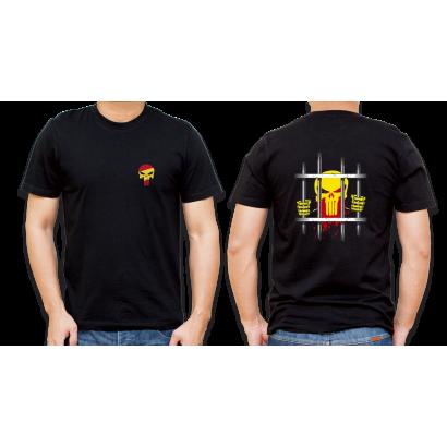 Camiseta Basica Barbaric Negra Calavera