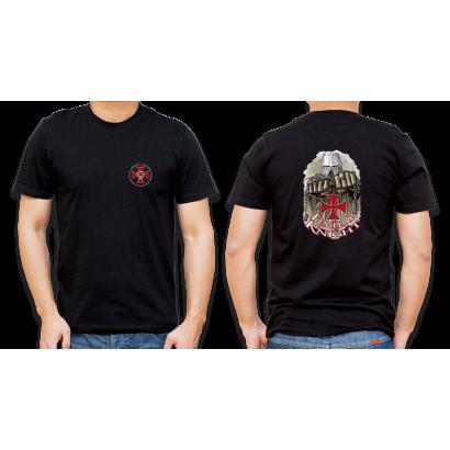 Camiseta Basica Barbaric Negra Templario