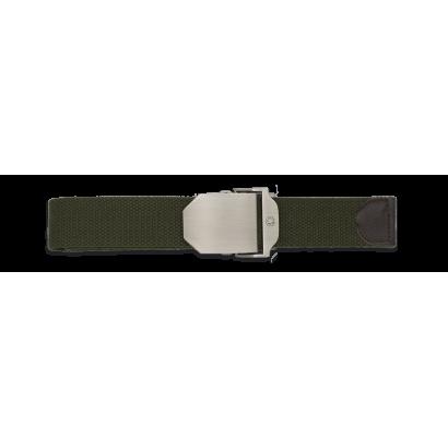 cinturon Verde hebilla metalica