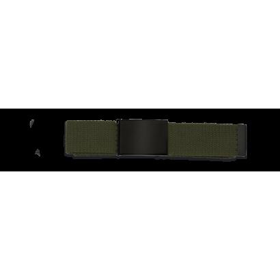 cinturon verde hebilla negra