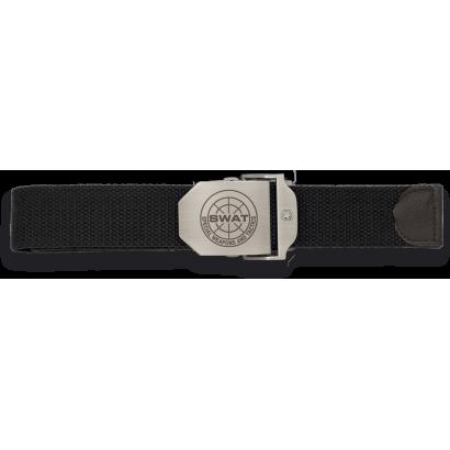 Cinturon negro hebilla metalica SWAT