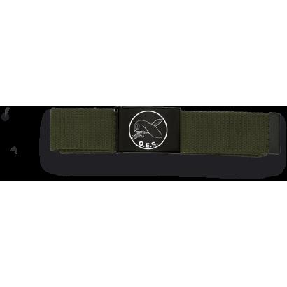 Cinturon verde hebilla negra OES