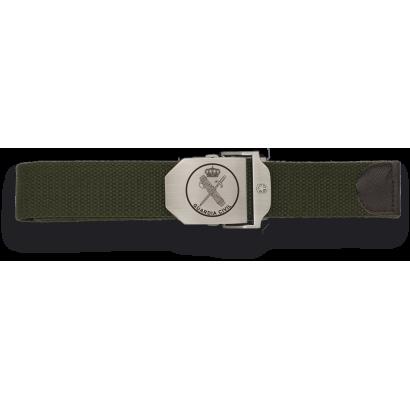 Cinturon verde hebilla metalica G. Civil