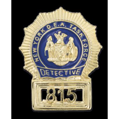 Chapas cartera US NEW YORK DETECTIVE