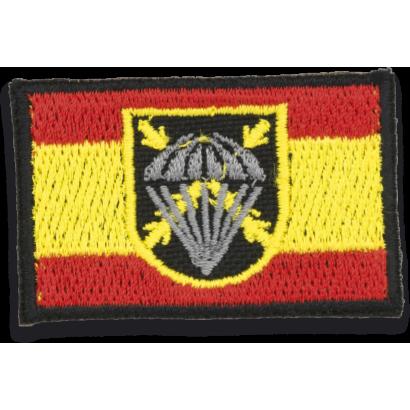Bandera España bordada con logo BRIPAC