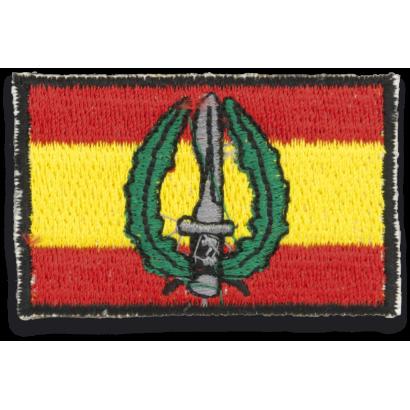 Bandera España bordada con logo MOE
