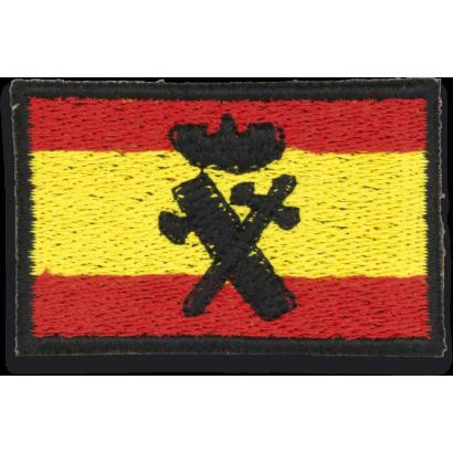 Bandera Bordada España con Logo G. CIVIL