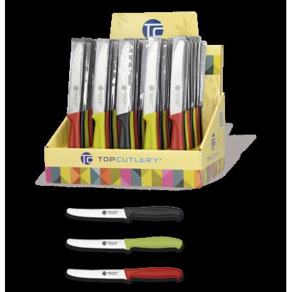 Expositor 48 piezas cuchillos mesa 11.5