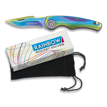 Navaja Rainbow. Hoja: 6.4 cm