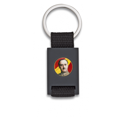 Llavero rectangulo negro + cinta negra