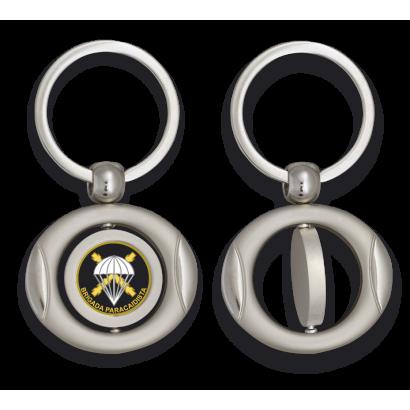 Llavero oval giratorio con chapa