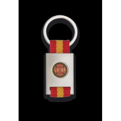 Porte-clés rectangle.Lacet ESP.Plaquette