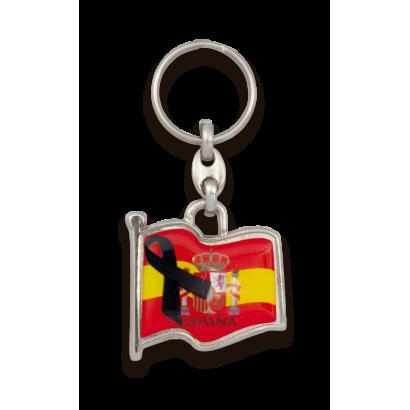 Llavero BANDERA ESPAÑA LAZO