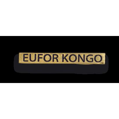 """Barra mision """" EUFOR CONGO """""""