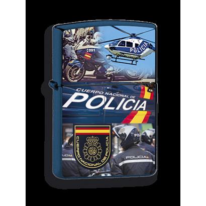 mechero azul Policía Nacional