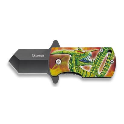 Navaja Albainox 3D dragon. Hoja: 4 cm