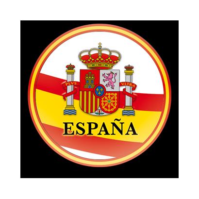 Imán frigo redondo España escudo diam:5