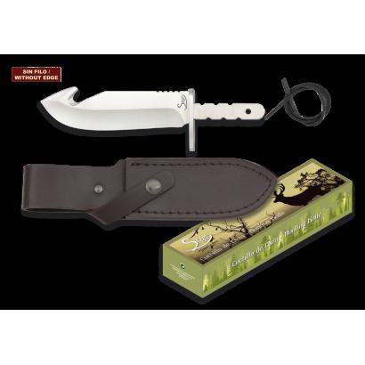 Cuchillo espiga. Total: 16.5 cm. C/Funda